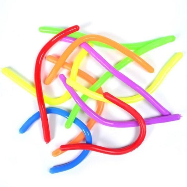 12-pak Stretchy Noodle String Neon Children Fidget Sensorisk leg Multicolor one size