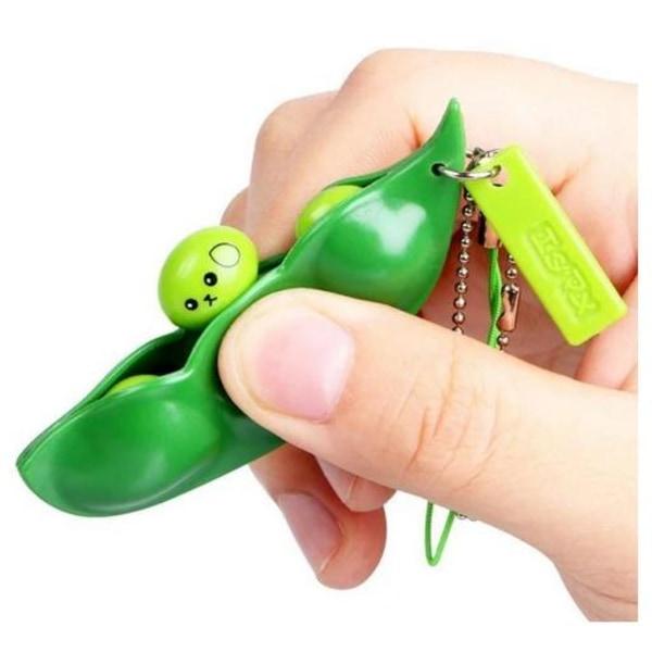 6-pakke - grønne bønner - bønner - fidget-legetøj - legetøj / se Green one size