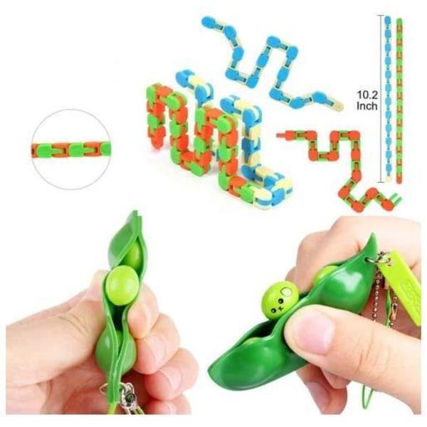 PRO 24 stk Fidget Pop it legetøjspakke til børn og voksne Multicolor one size