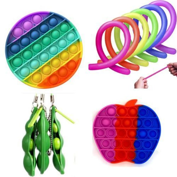 11. st. Fidget-lelusetti lapsille ja aikuisille Multicolor one size