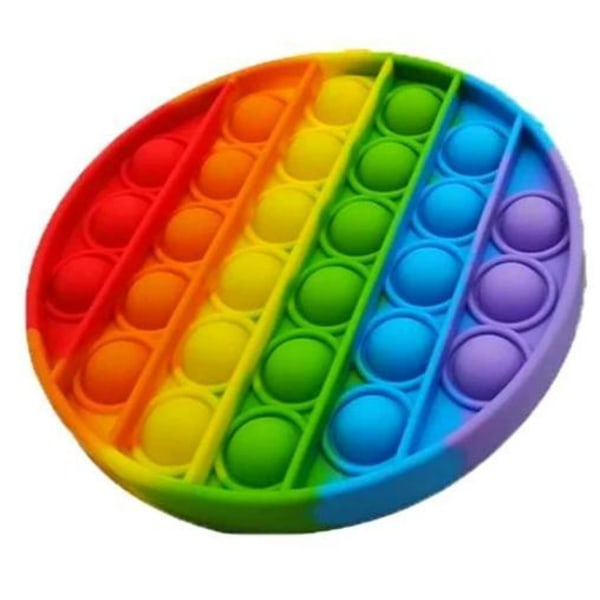 Pop It Fidget Original Rainbow Circle - CE godkendt Multicolor one size