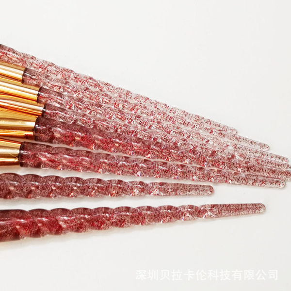 Unicorn Colorful 12 pcs. exclusive makeup / makeup brushes