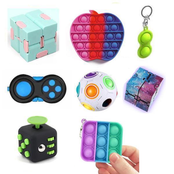 New PRO set - 8 st. Fidget-lelusetti lapsille ja aikuisille - uu Multicolor one size