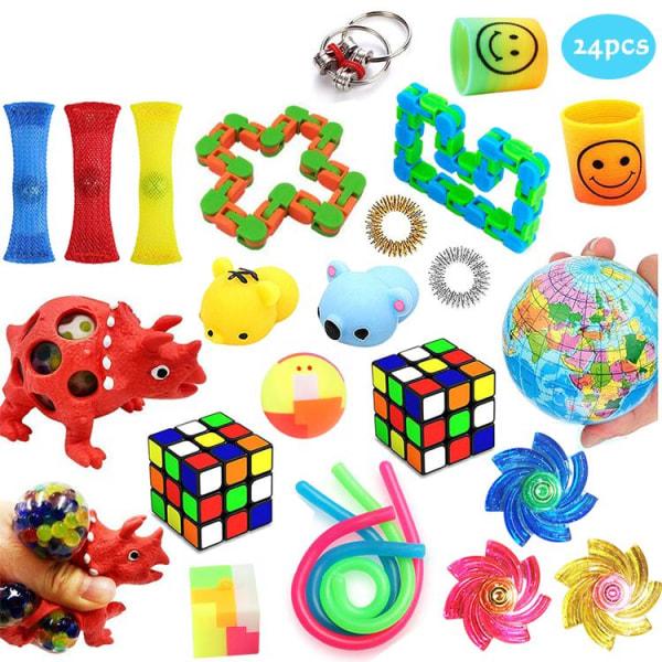 PRO 48 stk Fidget Pop it legetøjspakke til børn og voksne