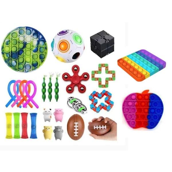 26 kpl Fidget Pop it Toys -sarjapakkaus lapsille ja aikuisille