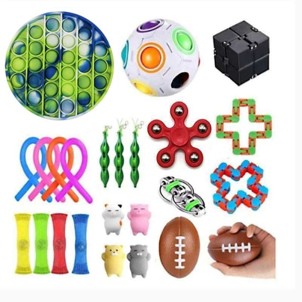 PRO 24 kpl Fidget Pop it Toys -sarjapakkaus lapsille ja aikuisil Multicolor one size