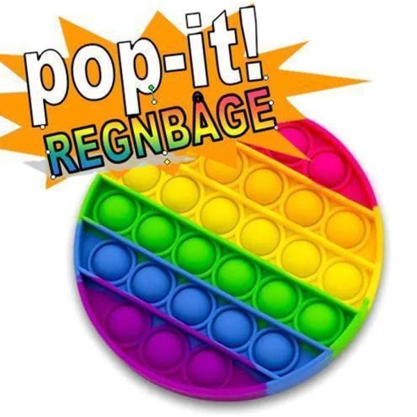 Pop It Fidget Original Rainbow Circle - CE godkendt