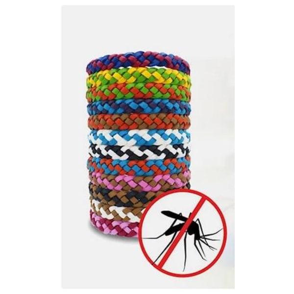 Myggeafvisende armbånd 10 pakke - Flettet