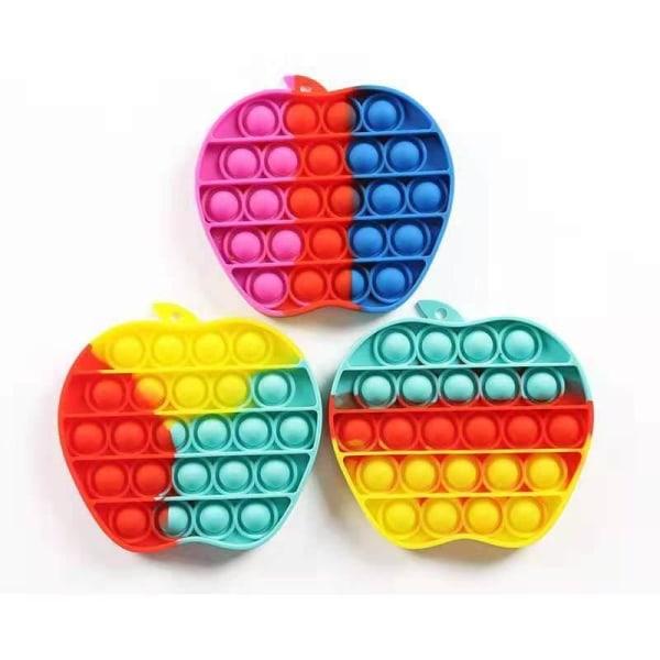 Pop It Fidget Original Rainbow Apple - CE godkendt Multicolor one size