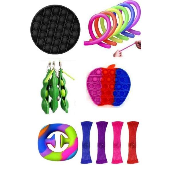 25 st. Fidget Legetøjssæt til børn og voksne Multicolor one size
