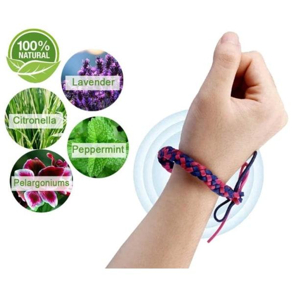 Myggavvisande armband 10 pack - Flätade