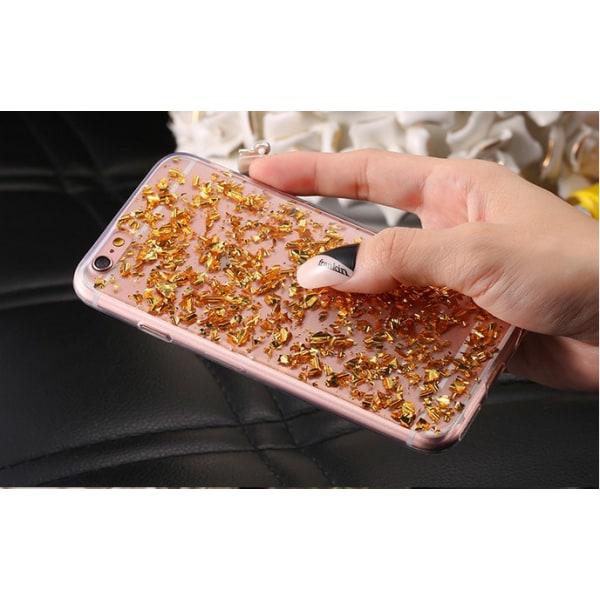 Mjukt skal Iphone 6 plus Guld glitter