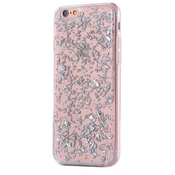 Mjukt skall Iphone 6 plus Silver glitter