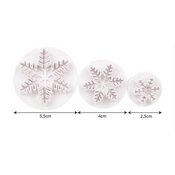 Snöflinga - Utstickare 3 st