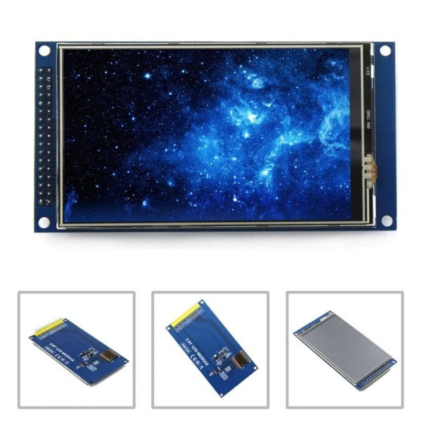 3.97 Tums 800 x 480 Ultra HD 8/16/24 LCD TFT Touch Skärm Arduino Svart