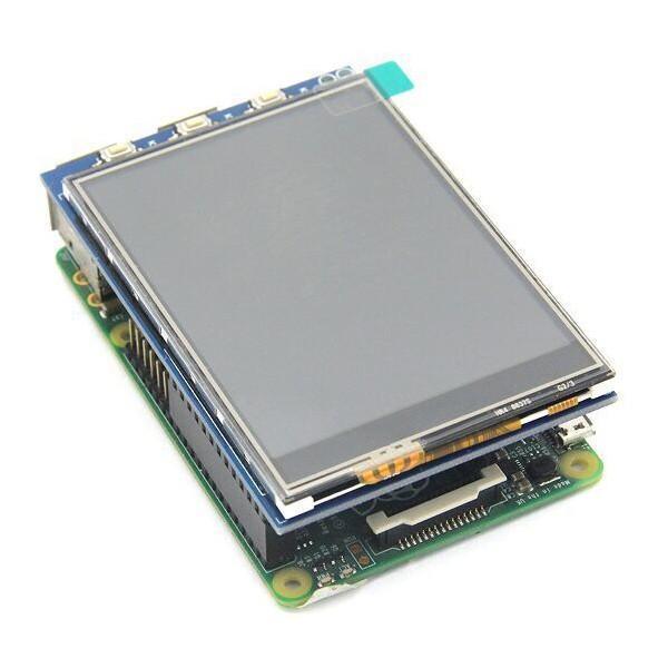3.2 Tums ILI9341 SPI 320 x 240 TFT LCD Skärm Modul Raspberry Pi Svart