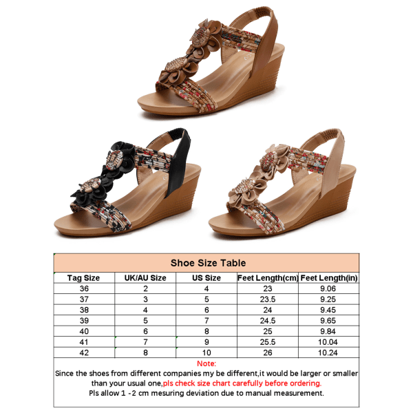 Women's sandals lace-up wedges summer dinner beach shoes Brown 37
