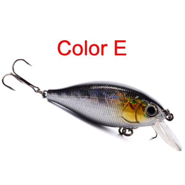 1/6/12PCS 7cm Fish Lures Fishing Crankbaits Baits E 6PCS