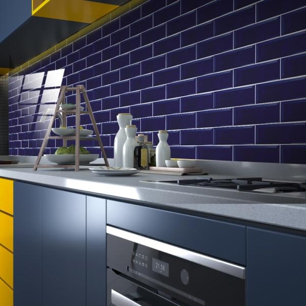 10Pcs Mosaic Brick Tile Sticker Kitchen Bathroom Wall Stickers Purple 30x30cm