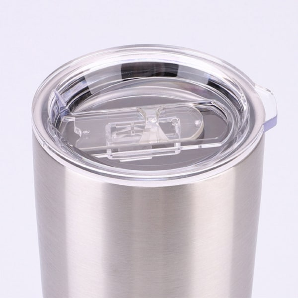 12/24oz Double Walled Tumbler Cup Stainless Steel Bottle Silver 24 oz