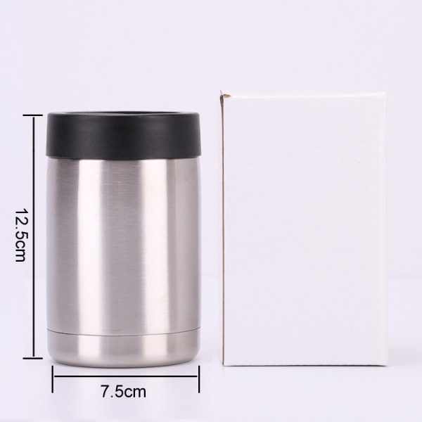 12oz Double Wall Tumbler Cup Insulate Travel Mug w/Lid Silver