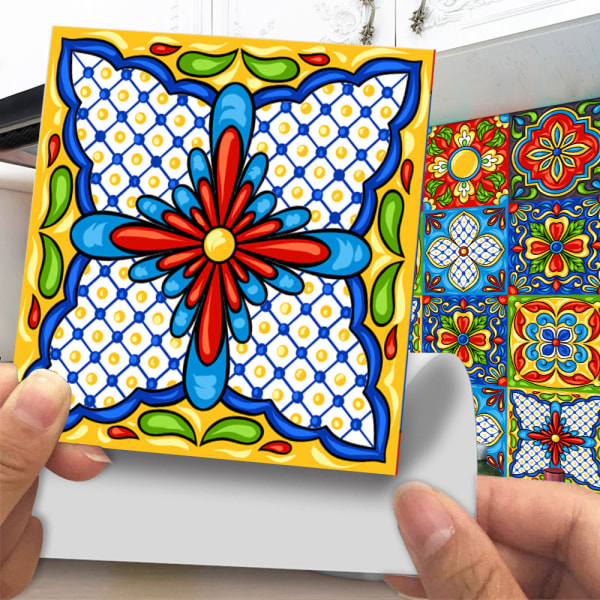 20Pcs Mosaic Tile Stickers Self Adhesive Home Decor Waterproof 3# 20x20cm