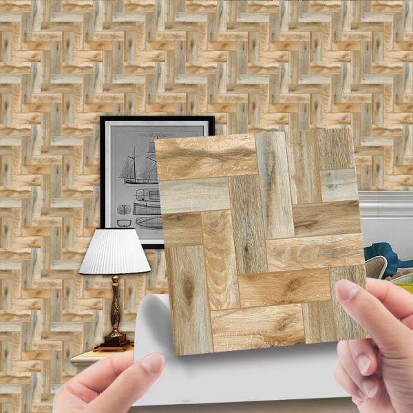 20Pcs Tile Floor Wall Stickers DIY Self Adhesive Bathroom Decor 2# 10x10cm