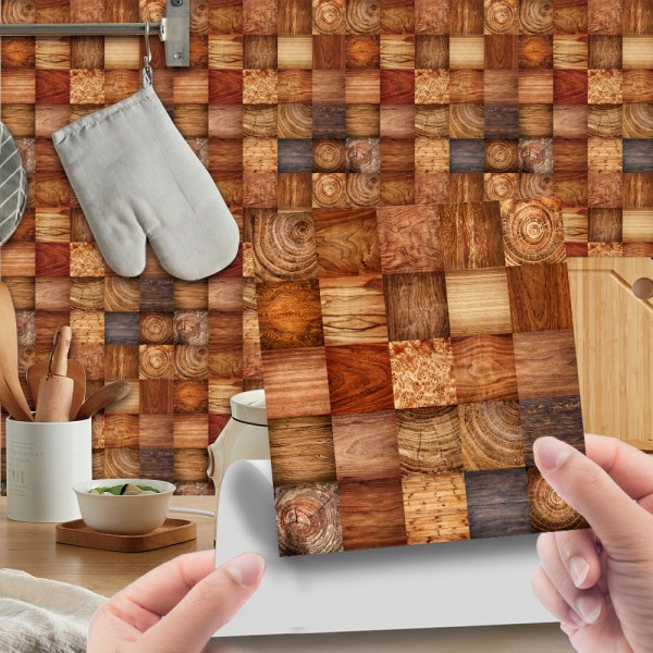 20Pcs Tile Floor Wall Stickers DIY Self Adhesive Bathroom Decor 6# 20x20cm