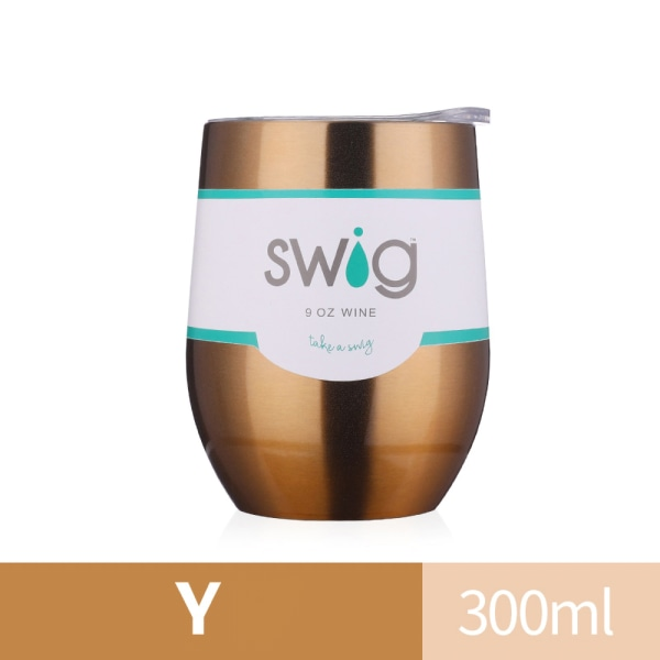 300 ml vinglas dubbelväggig kopp med kopp sug Y