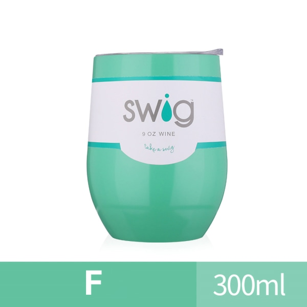 300ML Double Walled Tumbler Cup w/ Straw Insulated Cup Green F