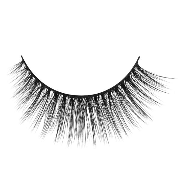 6 par naturliga långkorsade falska ögonfransar svart X11