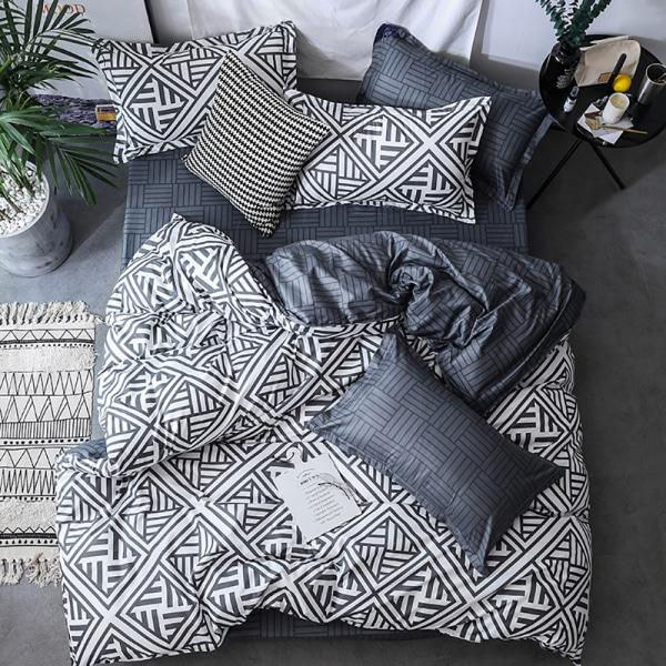 3Pcs Modern Duvet Quilt Cover Set Bedding Set + Two Pillow Cases #1 Mo,210*245cm