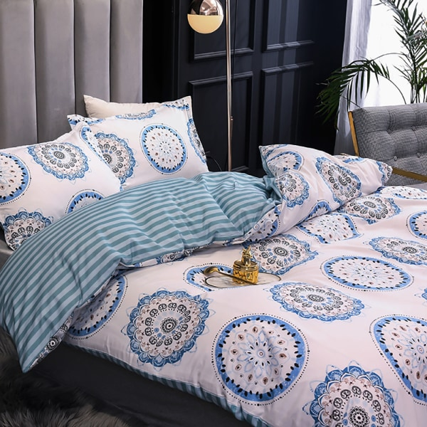 3Pcs Modern Quilt Cover Set Queen Size Bedding Set Pillowcases Bohemia,135x200cm