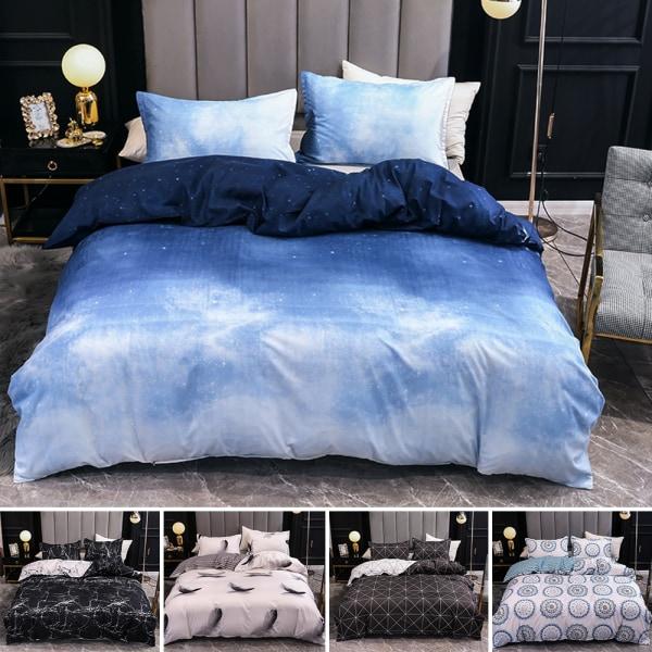 3Pcs Modern Quilt Cover Set Queen Size Bedding Set Pillowcases Bohemia,200x200cm