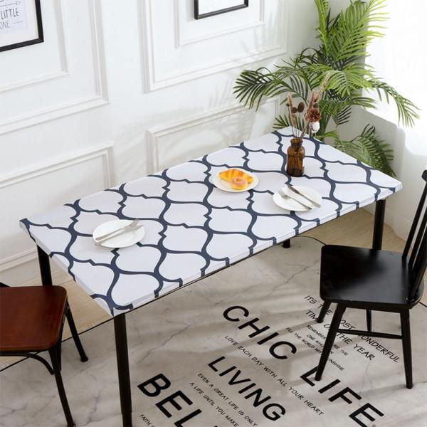 Rectangular Tablecloth Waterproof Elastic Edge Table Cloth Decor 6# Lantern 76x183cm