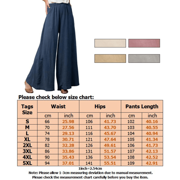 Womens Plus Size Elastic Pants Baggy Loose Wide Leisure Trousers Gray,M