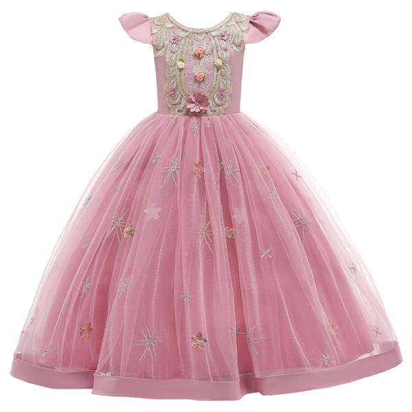 Kids Girl Princess Dress Child Birthday Cosplay Party Fairytale Rose,100