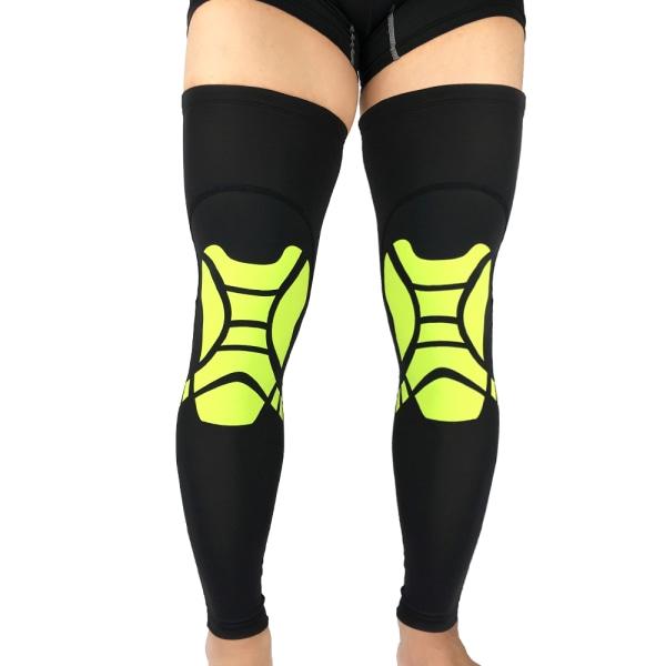 A Pair Compression Leg Long Sleeve Knee Brace Support Socks Green XL