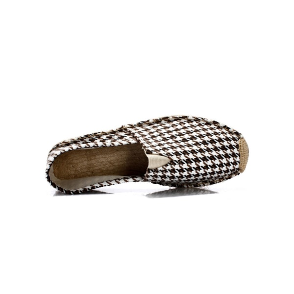 Unisex Adult Canvas Loafers Fashion Print Shoes Round Toe Mules 5# 40