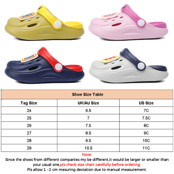 Children boys and girls hole shoes summer sandals slippers Gray,24