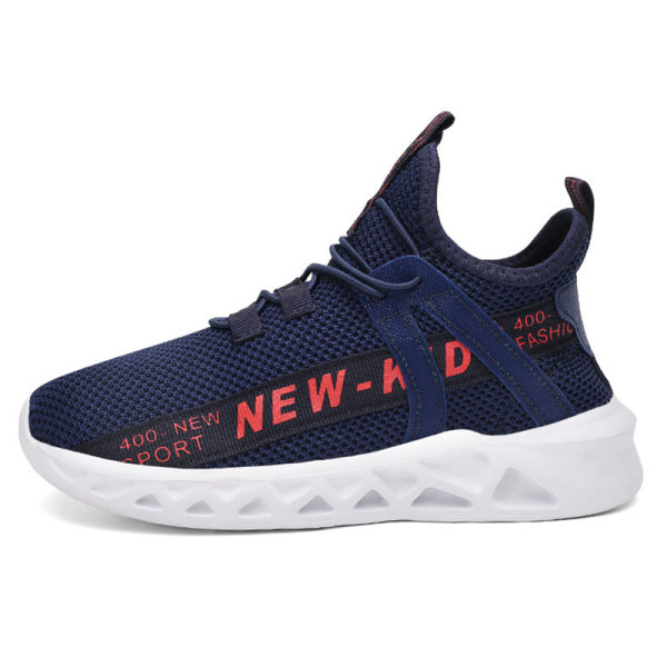 Children boys and girls sports shoes wear-resistant casual shoes Dark Blue Red,26