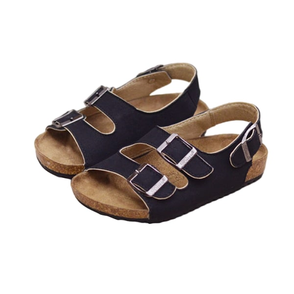 Children boys and girls waterproof casual shoes sandals Black,24