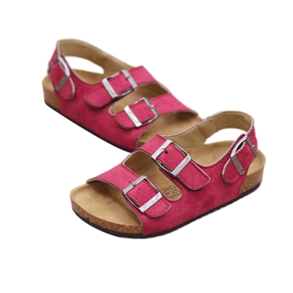 Children boys and girls waterproof casual shoes sandals Rose Red,36