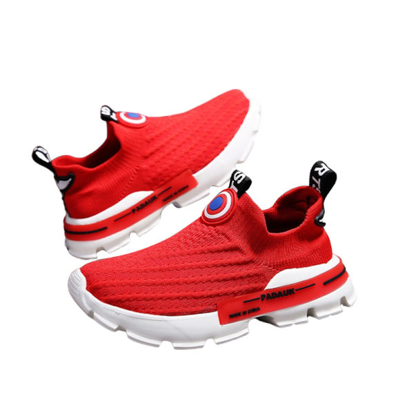 Children boys girls casual shoes sneakers running shoes Red,33