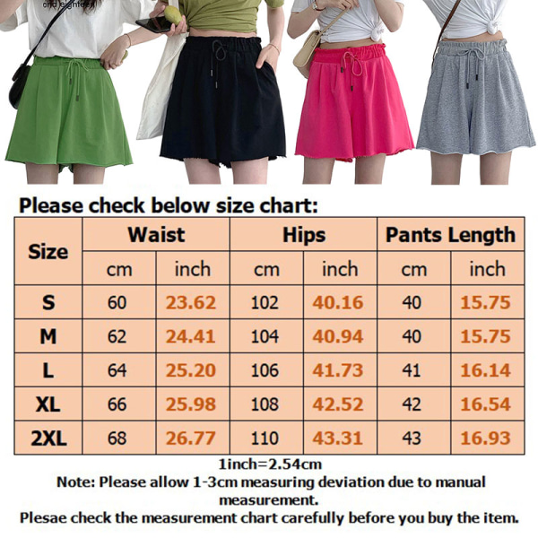 Women's Summer Shorts Casual Wide Leg Elastic Waist Drawstring Grey,XL