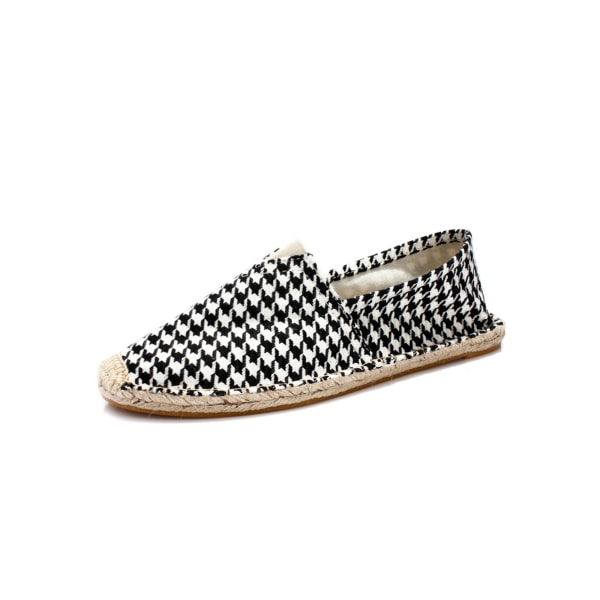 Unisex Adult Canvas Loafers Fashion Print Shoes Round Toe Mules 4# 38