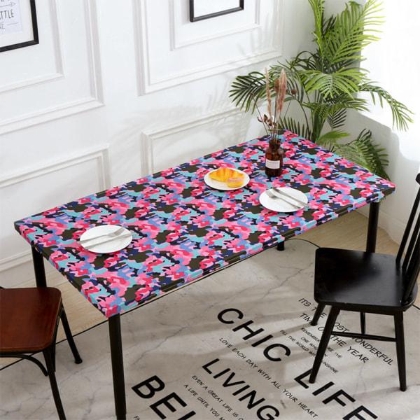 Rectangular Tablecloth Waterproof Elastic Edge Table Cloth Decor 8# Abstract 76x244cm
