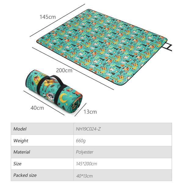 Folding Picnic Mat Waterproof Portable Camping Beach Blanket F
