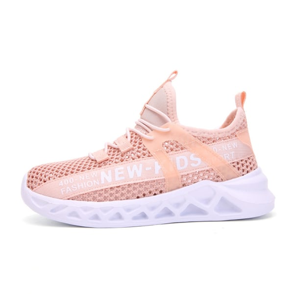 Girls Boys Children's Mesh Sneakers Cushioned Casual Shoes Pink,31