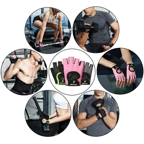 Half Finger Gloves Hand Protector Anti-Slip Gym Fitness Weight black,M